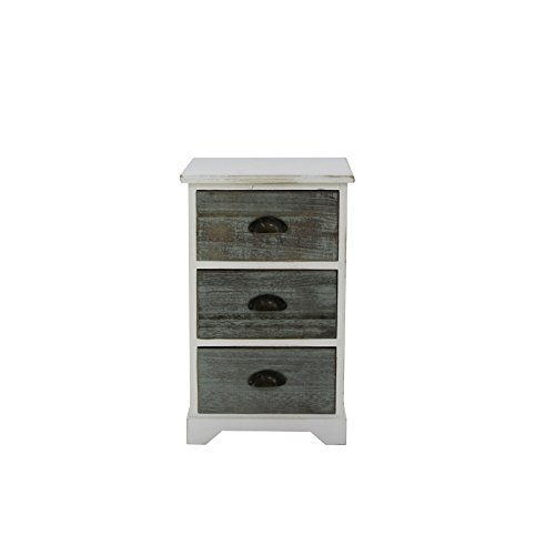 Rebecca Möbel dressoir maanda wit design retro hout grijs entree - 58 x 35 x 26 (H x B x D) - Art. RE6094