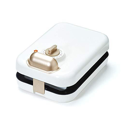 Máquina de hacer gofres, máquina de desayuno, tostadora multifuncional para el hogar, tostadora, tostadora-Blanco B
