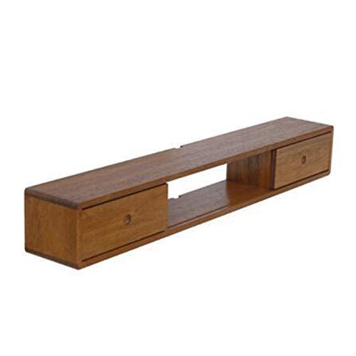 Mueble para TV Mueble de TV de madera maciza Montado en pared Nordic Dormitorio Minimalista Sala de estar Conjunto de pared Conjunto de pared Rack TV Gabinete para el Dormitorio de la Sala de Estar