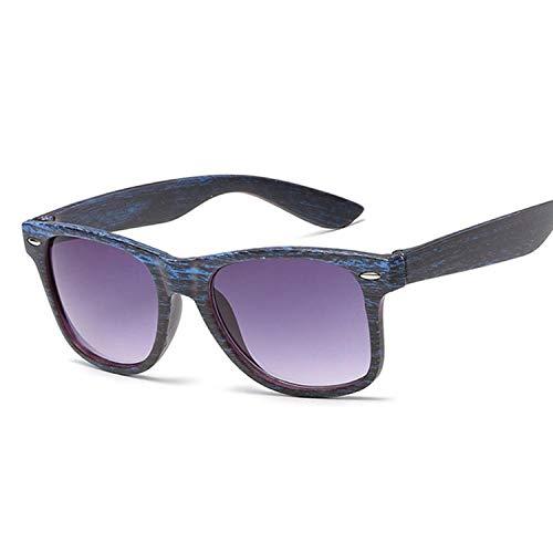 Moda Gafas De Sol Vintage Gafas De Sol Cuadradas Pequeñas Mujeres Marca De Lujo Negro Imitación Marco De Madera Gafas De Sol Gafas De Sol Hombre Mujer Coulos Bluegrain