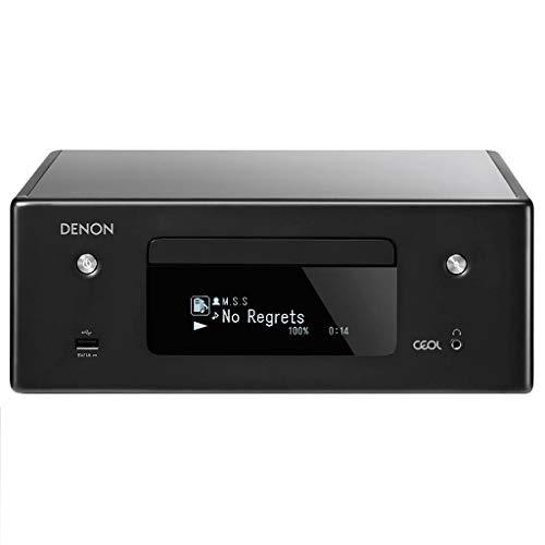 Denon CEOL-N10 Audio-Empfänger mit CD-Player, HiFi-Verstärker für TV-Sound, Bluetooth, 2X optischer Eingang, Google Assistant/Siri/Alexa kompatibel, Musik-Streaming, HEOS Multiroom - Schwarz