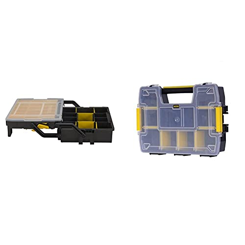 STANLEY STST1-75540 - Caja de Herramientas multinivel 18' + STST1-70720 - Organizador SortMaster, Negro, Transparente
