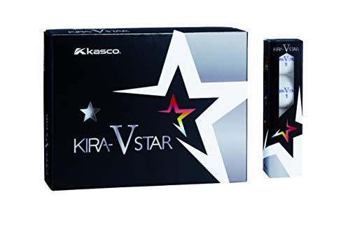 キャスコ(Kasco) ゴルフボール KIRA STAR V キラスターV ユニセックス キラスターVN ホワイト 最適ヘッドスピード: 25~45 2ピースボール: 1コア+1カバー