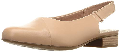 Clarks Damen Slingback Sandalen, Pink (Praline Leather Praline Leather), 42 EU