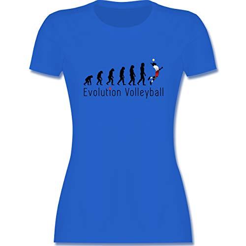 Evolution - Volleyball Evolution - S - Royalblau - Volleyball t-Shirt - L191 - Tailliertes Tshirt für Damen und Frauen T-Shirt