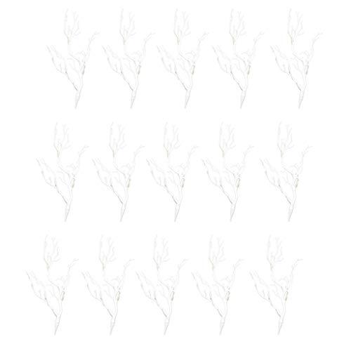 LOVIVER 20x Decoración de Arte Moderno Ramas de árbol Secas Planta Ramita Decoración Floral para El Hogar Blanco