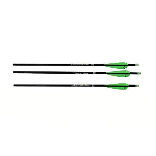 "TenPoint Crossbows Omni-Brite 2.0 Lighted 20"" Pro Lite Carbon Crossbow Arrows, 3 Pack"