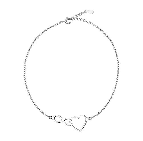SOFIA MILANI Damen Armband Unendlich Infinity Herz Silber 30132