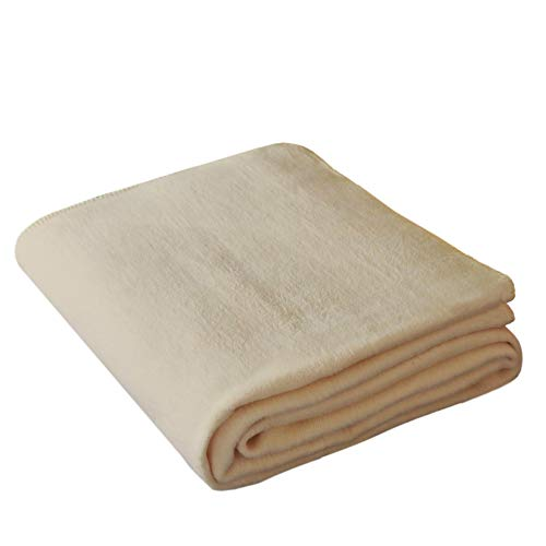NATUREHOME Luxus Wohndecke OLE 150x200cm Beige - Kuscheldecke Premium Qualität Tagesdecke Wolldecke Fleecedecke besonders flauschig, warm und kuschelig aus 100% Baumwolle Bio