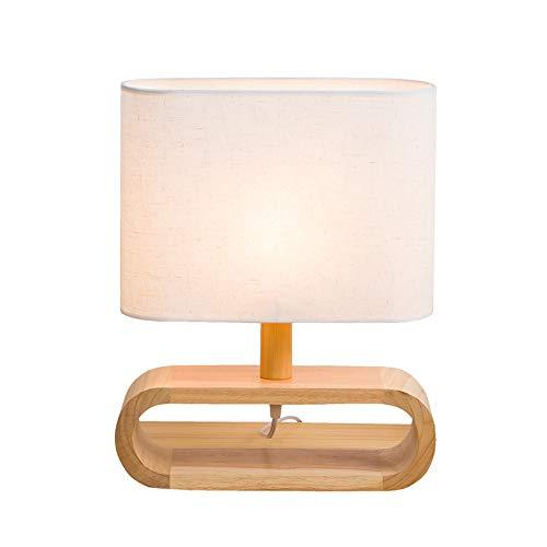 YU-K Chêne simple toile couvre le salon chambre à coucher moderne de l'étude des lampes de table de chevet,20 * 48cm, interrupteur route
