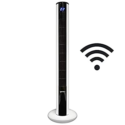 Igenix DF0038WIFI Smart Digital Tower Fan with Amazon Alexa, Voice or App Controllable, Ultra Quiet Function, 36 Inch, 8 Speed, 3 Wind Modes, Oscillating, 8 Hour Timer, Sleep Mode, White