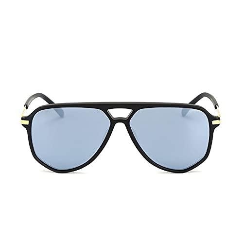 Protección de Gafas de Sol polarizadas Anti Rayos UV Es Adecuado para Compras, conducción, Pesca, Vacaciones, Playa, Fiesta, Deportes y Otras Actividades al Aire Libre,Cromo