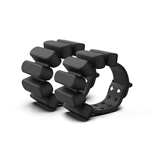 TOSAMC Durable Wrist Weights - Wearable Weight Bracelet Intensify Fitness, Exercise, Walking, Jogging, Gymnastics, Aerobics, Yoga, Gym; 2pics Set. (Black, 2.0LB) Alabama