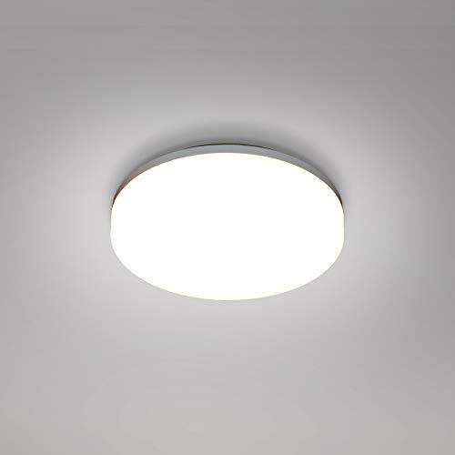 15W LED Bad Deckenleuchte Rund Decke Lampe Weiß Feuchtraum IP54 Durchmesser 22CM 1400Lm Lichtfarbe Einstellbar 3000K 4000K 5000K Nicht Dimmbar AC175-240V 1er Pack von Enuotek