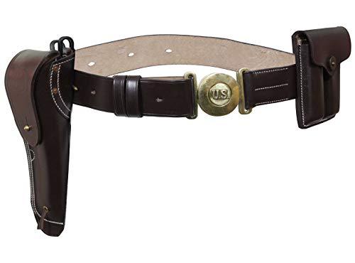 Epic Militaria Réplica WW2 EEUU Cinturón De Cuero Marrón M1916