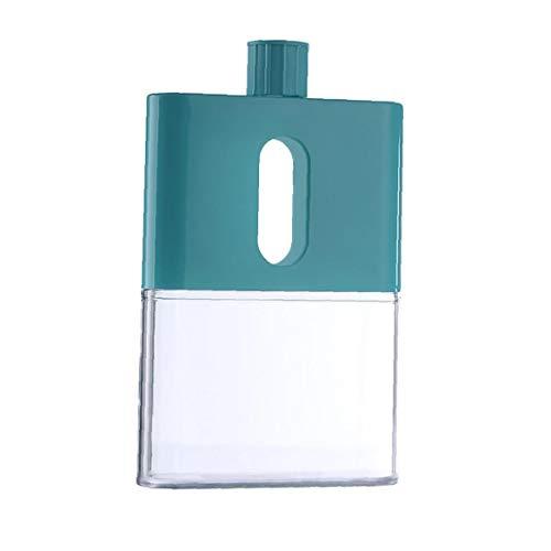 Nicetruc Botella de Agua Plana, portátil Botella de Agua de plástico A5, Creativa a Prueba de Fugas Botella Transparente Deporte acuático, Verde