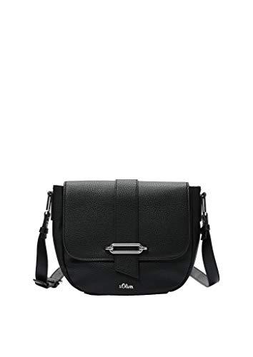 s.Oliver (Bags Damen 39.001.94.2950 Tasche Umhängetasche, black, 8.5x19.5x25 cm