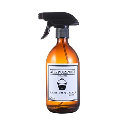 Bote Spray Cristal �mbar Botella Vaporizador Vidrio Marrón 500 ml (Spray Vaporizador...