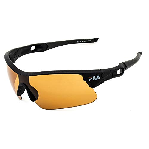 Fila SF23799MBLK Gafas, Matt Black, 99/0/145 Unisex Adulto