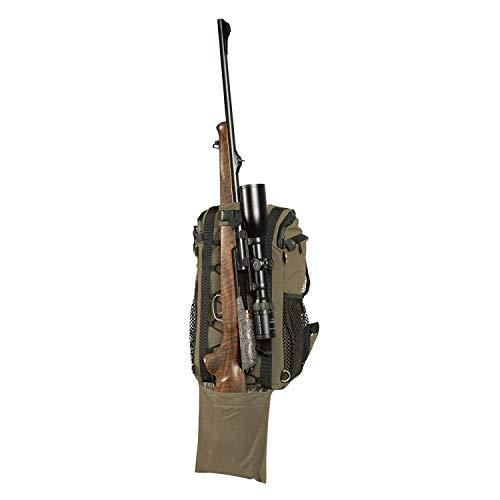 Härkila kompakter Jagdrucksack mit Gewehrhalter und YKK®-Reißverschluss aus wasserdichtem Material mit Regenschutz