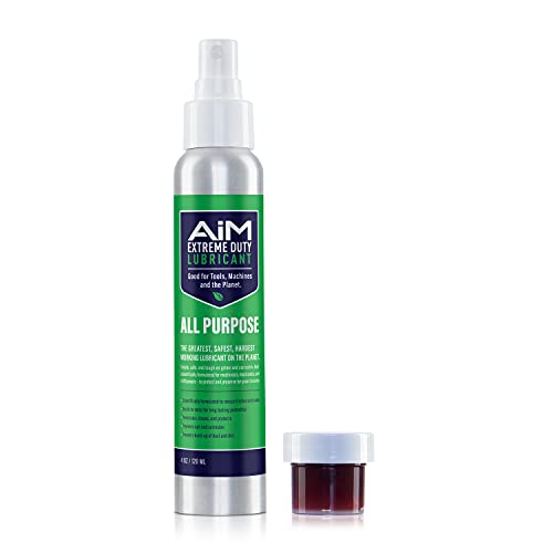 PlanetSafe AIM Exercise Equipment Lube Kit, Small - Cleans, Lubricates, Protects - Odorless, Safe, VersaClimber Approved - AIM Extreme Duty Fitness Equipment Lubricant and AIM Machine Grease