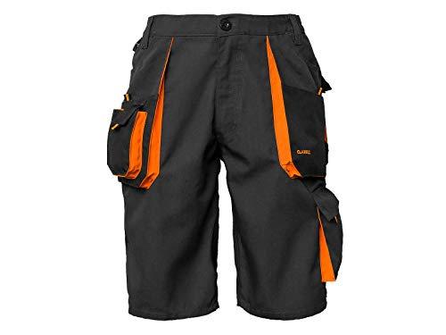 ART.MAS Kurze-Arbeitshose Sicherheitshose Cargo-Schutzhose Shorts Sommer Schwarz-Orange (KR-SP-Classic) (54)