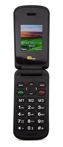"TTfone Flip TT140 - Teléfono móvil de 1.77"" (Bluetooth, cámara de 0.3 MP), Rojo"