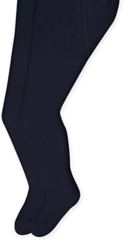 Sterntaler Pack de deux Collants pour bébés, Âge: 0-2 Mois, Taille: 56, Bleu marin