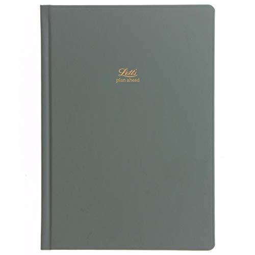 Letts Icon - Agenda 5 anni senza data, formato A5, colore: verde