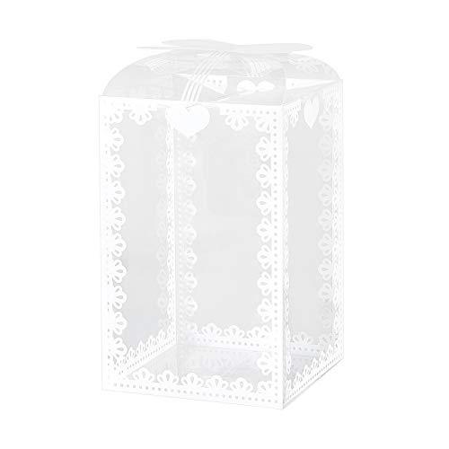 BENECREAT 24PCS PVC Scatole Trasparenti per Bomboniere con Design Bowknot Scatole Regalo Rettangolo da 14x9x9cm per Confezioni Regalo, Cioccolato, Caramelle