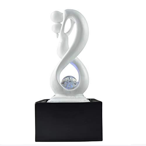 Zen\'Light SCFR19-C8M - Fuente de Interior, polirresina, Negro y Blanco, 14 x 14 x 31 cm