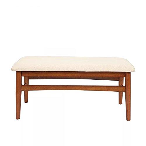 ZXQZ zhuozi Tabouret en bois massif fin de lit canapé banc chambre chevet tabouret moderne minimaliste créatif lit tabouret 2 couleurs en option 900 * 350mm bureau pliant ( Couleur : A )