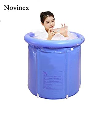Novinex plastic inflatable japanese soaking tub portable for adults, kids, newborns baby | foldable bathub outdoor, indoor hot tube SPA home | shower stall bath bag | free standing tub
