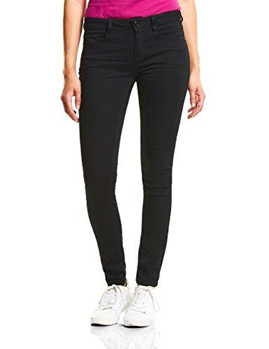 Street One Damen 371612 York Slim Jeans, Schwarz (Black Clean Wash 11518), W25/L32 (Herstellergröße: 25)