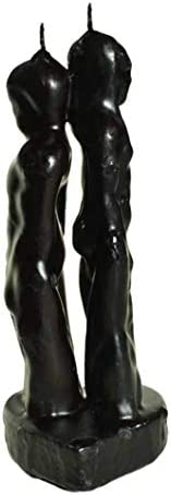 BLACK 7 INCH MAN WOMAN BACK TO BACK BREAK UP CANDLE product image