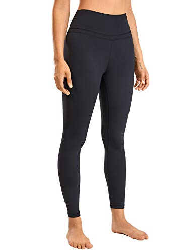 CRZ YOGA Women's Naked Feeling I High Waist Tight Yoga Pants Workout Leggings-25 Inches Black 25'' - R009 L