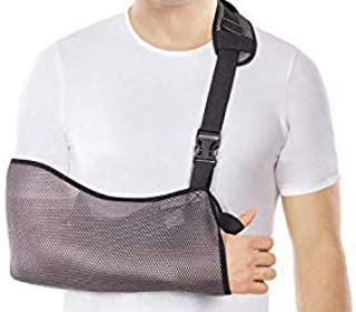 Arm Sling - Breathable Mesh – Lightweight (X-Small, Grey)
