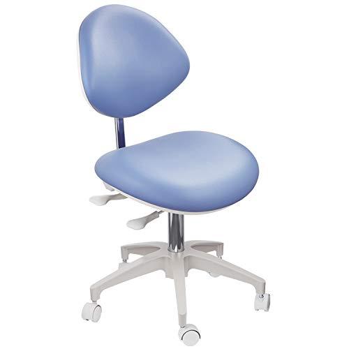 JMU Napa Doctor's Stool, Professional Ergonomic Heavy Duty Dental Operator Dentist Chair Full Adjustable for Dental Office Lab Medical Clinic Hospital, Atlantis Blue