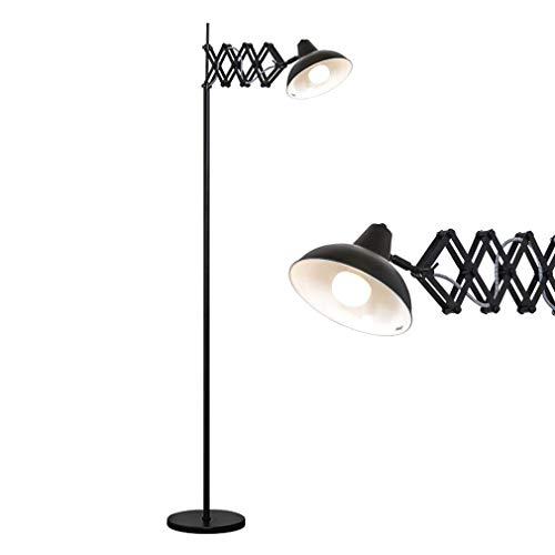 TATANE Postmodern Long Arm verticale staande lamp, LED instelbare vloerlampen, diffusing lampenkap hoog industriële uplight, voor woonkamer en woonkamer