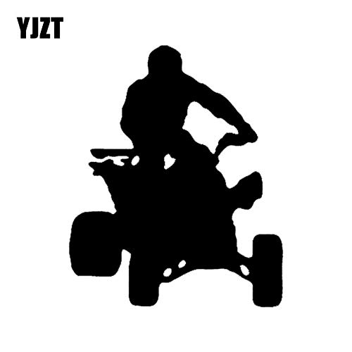 JYIP 12 1CM * 14 7CM Four Wheel Car Sticker Motorcycle Decal Vinyl Black/white Nice-quality C31-0208-Black