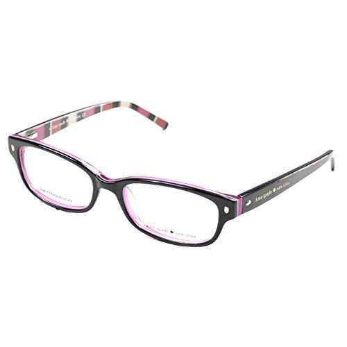Kate Spade Lucyann Eyeglasses-0X78 Black Pink Striped-49mm