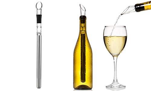 Wine Sceptre Weinkühlstab mit Belüfter aus Edelstahl - Premium Weinkühler - Weingenuss in Sommelier-Qualität