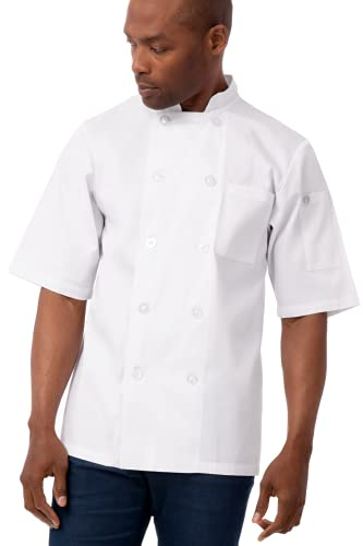 Chef Works unisex adult Volnay Coat chefs jackets, White, Large US