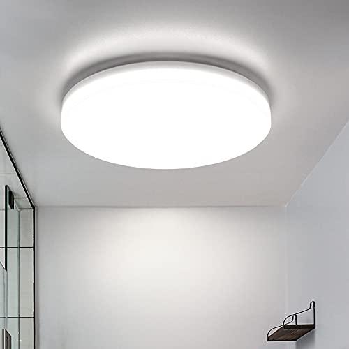 LED Lámpara de Techo,22W Moderna Plafón Led de Techo Redonda Ultra Delgado Φ30 cm Impermeable 1900LM 5500K Baño Pasillo Cocina LED...