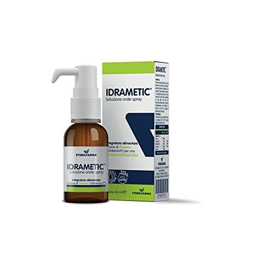 Idrametic suplemento alimenticio Spray Oral a base de vitaminas del grupo B, L-alanina y jengibre (Sofalenina) para una acción antiinausea Frasco 30 ml (1)