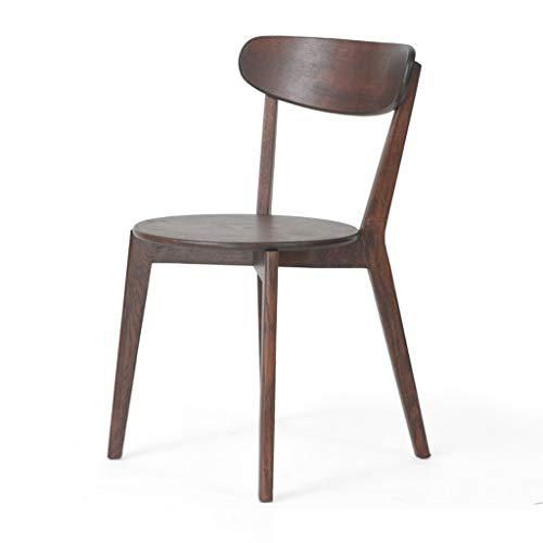 Dining Chair Hermosa silla simple escritorio de estudiante y silla de maquillaje taburete de ordenador para volver a casa fuerte (color: color nogal)
