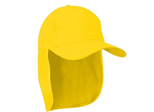 morefaz Junior-Legionär-Stil Jungen Mädchen Mütze Baseball Nackenschutz Sonnenschutz Cap Hut Kinder Kappe MFAZ Ltd (Yellow)