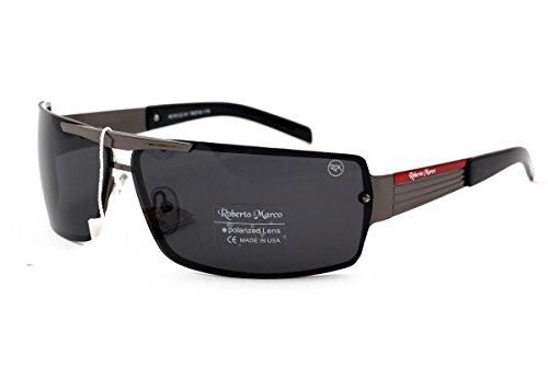 Roberto Marco gepolariseerde zonnebril voor bestuurders grijze lenzen. Modieus ontwerp - Anti-Glare Lens