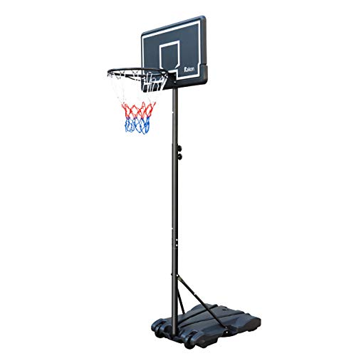 Rakon Portable Basketball Hoop & Goal Basketball System Stand Height Adjustable 5.4ft -7ft with 30in Backboard & Wheels for Youth Kids Outdoor Indoor Basketball Goal Game Play