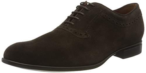Geox U IACOPO A, Zapatos de Cordones Oxford Hombre, Marrón (Dk Brown C6006), 41 EU